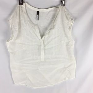 Tracy Reese arrow embroidery white sleeveless B9